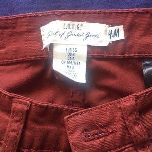 Burgundy h&m skinny pants